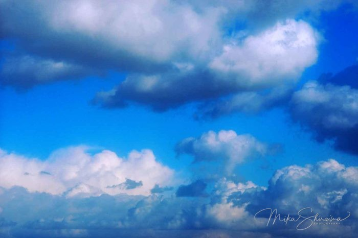Sky and clouds - photo by Mika Shiraiwa