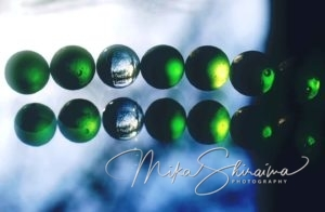 marbles art with nature by Mika Shiraiwa